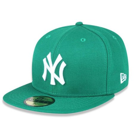 Boné New York Yankees 5950 White on Green Fechado - New Era