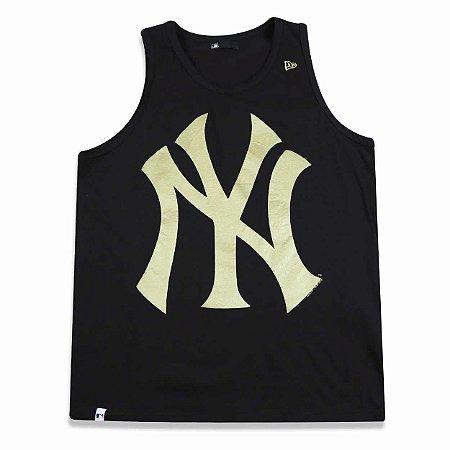 Regata New York Yankees Basic Preta/Dourado - New Era