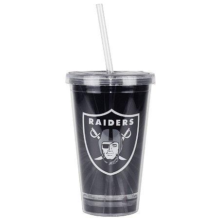 Copo C/ Canudo Oakland Raiders - NFL