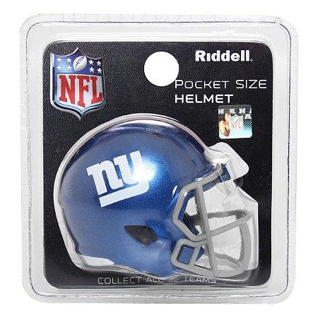 Mini Capacete Riddell New York Giants Pocket Size
