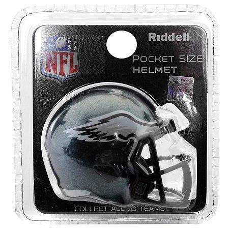 Mini Capacete Riddell Philadelphia Eagles Pocket Size