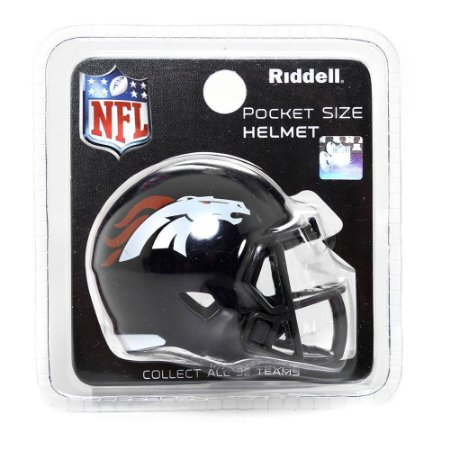 Mini Capacete Riddell Denver Broncos Pocket Size