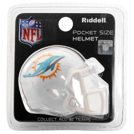 Mini Capacete Riddell Miami Dolphins Pocket Size