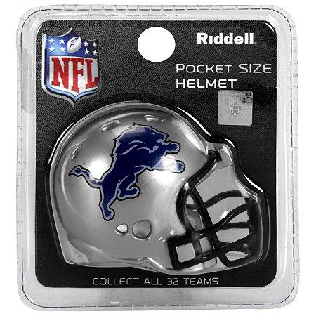 Mini Capacete Riddell Detroit Lions Pocket Size