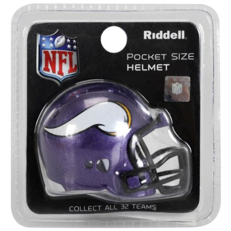Mini Capacete Riddell Minnesota Vikings Pocket Size