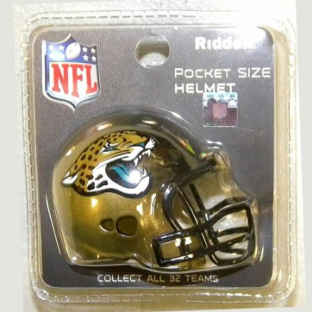 Mini Capacete Riddell Jacksonville Jaguars Pocket Size