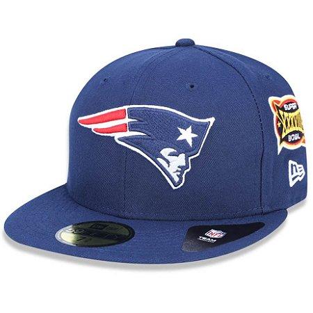 Boné New England Patriots 5950 5x Champion Fechado - New Era