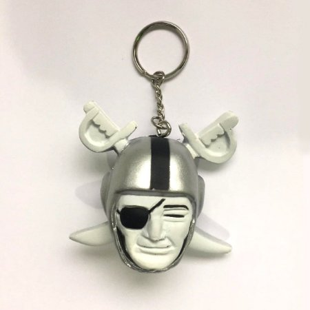 Chaveiro Oakland Raiders Foam Head