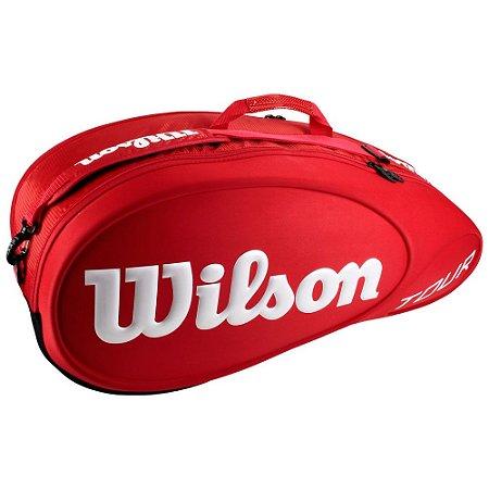Raqueteira Wilson Tour X6 Vermelho