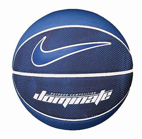 Bola de Basquete Nike Dominate Azul Branco