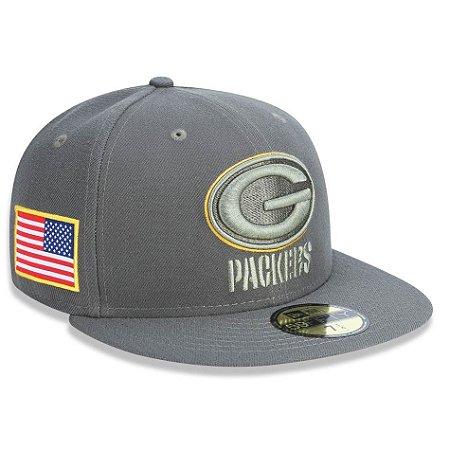 Boné Green Bay Packers 5950 Salute To Service 17 Fechado - New Era