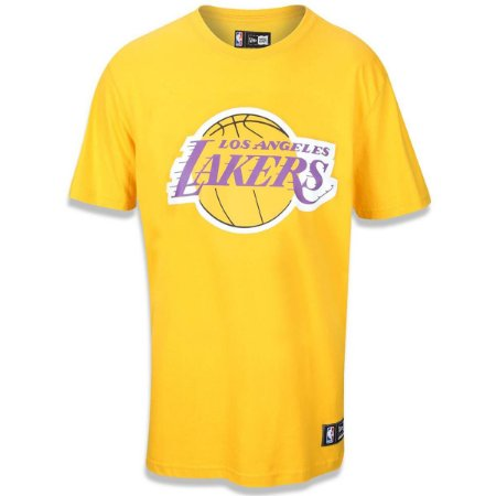 Camiseta Los Angeles Lakers Basic Amarelo - New Era