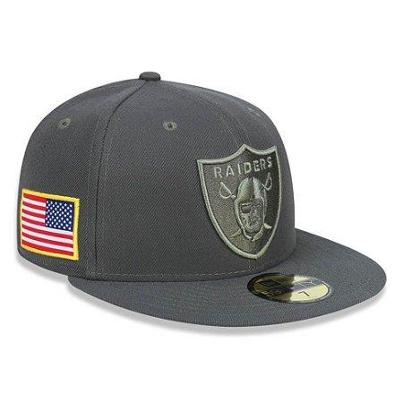 Boné Oakland Raiders 5950 Salute To Service 17 Fechado - New Era