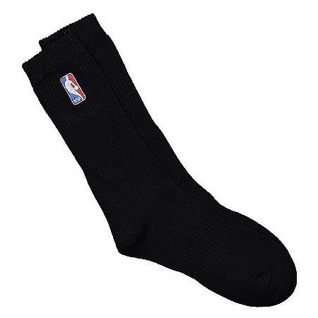 Meia NBA Logoman Cano Longo Preta