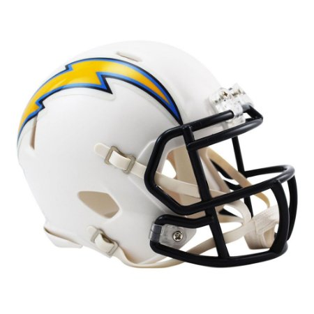 4711675fb Mini Capacete Riddell Los Angeles Chargers Revolution Speed - FIRST ...