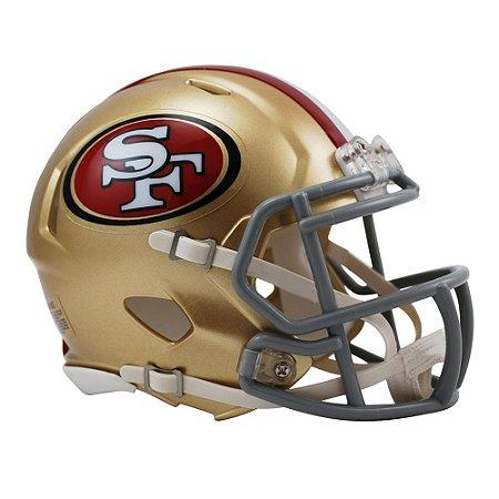 Capacete Riddell San Francisco 49ers Miniatura Revolution Speed