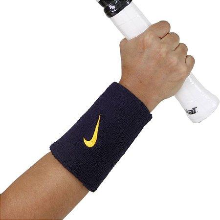 Munhequeira Nike Swoosh Double Azul Marinho