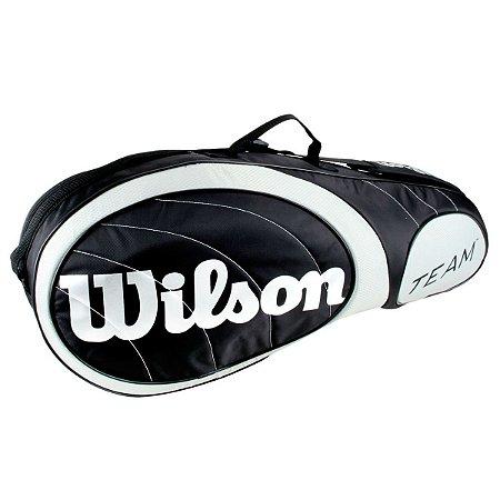 Raqueteira Wilson Team X3 Preta/Prata