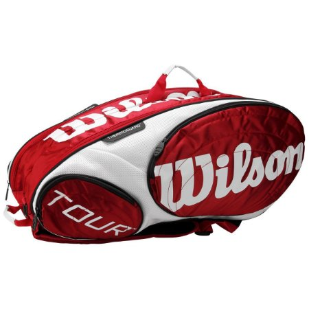 Raqueteira Wilson Tour X9 Vermelho/Branco