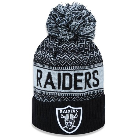 Gorro Touca Oakland Raiders Wintry Pom - New Era