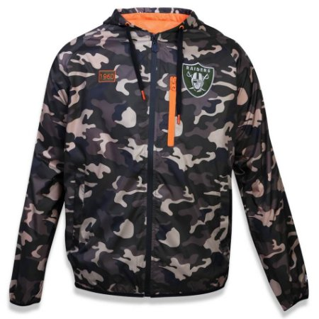 Jaqueta Windbreaker Quebra vento Oakland Raiders Militar NFL - New Era