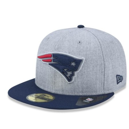 Boné New England Patriots 5950 Reflective Heather Fechado - New Era