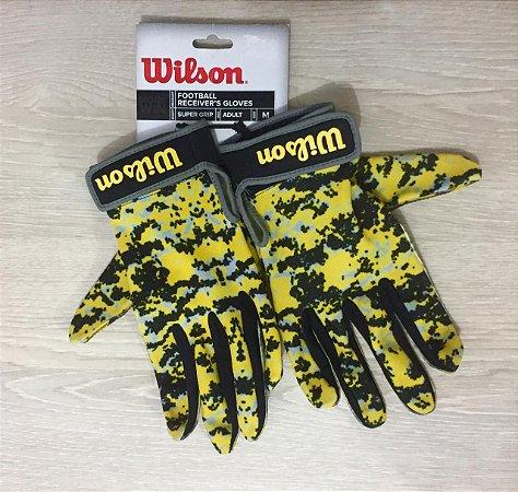 Luva Super Grip Receiver Camuflada Amarela NFL - Wilson