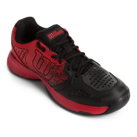 Tenis Wilson K Ultimate Vermelho e Preto