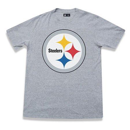 09e0f9ab0ceb2 Camiseta Pittsburgh Steelers Basic Cinza - New Era - FIRST DOWN ...