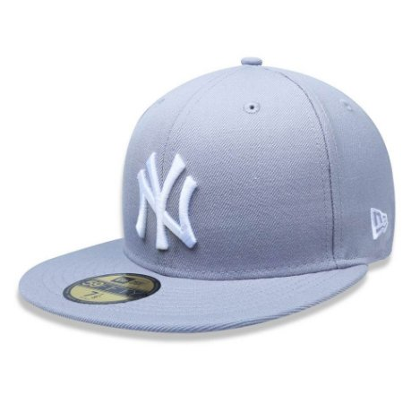 Boné New York Yankees 5950 White on Gray Fechado - New Era