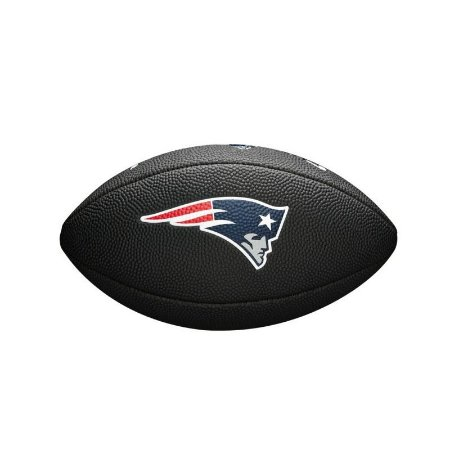Bola Futebol Americano New England Patriots Team Logo Black - Wilson