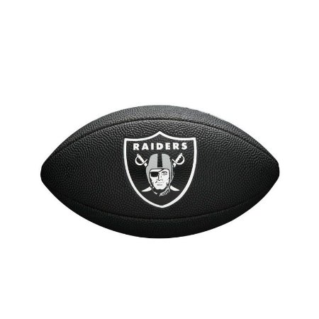 Bola Futebol Americano Oakland Raiders Team Logo Black - Wilson