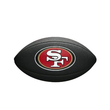 Bola Futebol Americano San Francisco 49ers Team Logo Black - Wilson