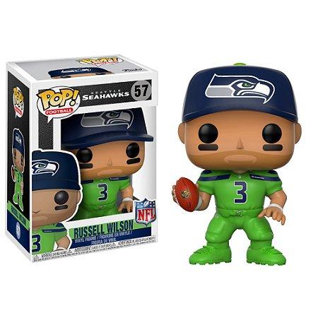 Funko Pop Russell Wilson 3 Verde Seattle Seahawks