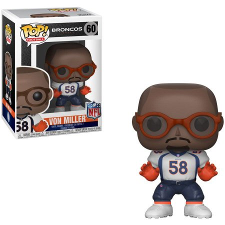 Funko Pop Von Miller 58 Denver Broncos Branco