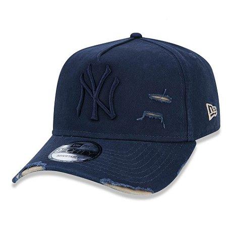 3be1021e6e1aa Boné New York Yankees 940 Cotton Damage Azul - New Era - FIRST DOWN ...