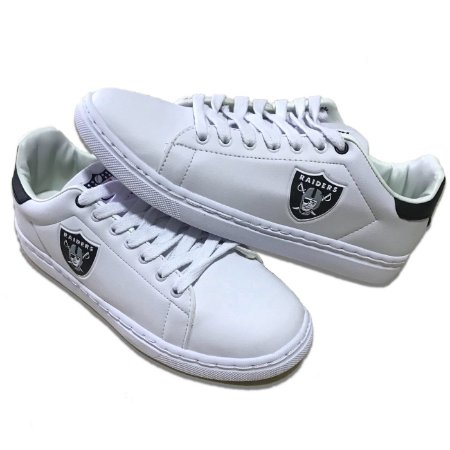 248e1ce5891 Tenis Sapatenis Oakland Raiders NFL Branco - FIRST DOWN - Produtos ...