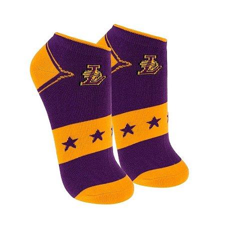 Meia NBA Los Angeles Lakers Invisível Roxa