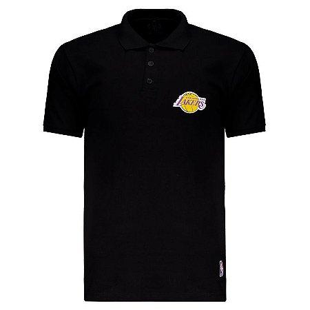 Camisa Polo Los Angeles Lakers Mini Logo - NBA