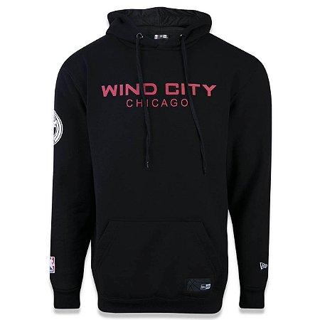 Casaco Moletom Chicago Bulls Wind City - New Era