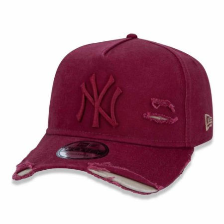Boné New York Yankees 940 Damage Destroyed Vermelho - New Era