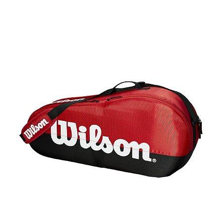 Raqueteira Wilson Team II 3 Pack Vermelha/Preta