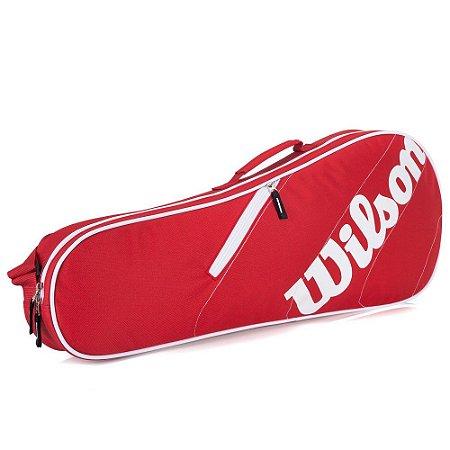 Raqueteira Wilson Esportiva Advantage Team 3 Pack Vermelho/Branco