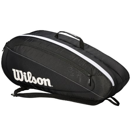 Mochila Wilson Esportiva Federer Team II 6 Pack Preto/Branco