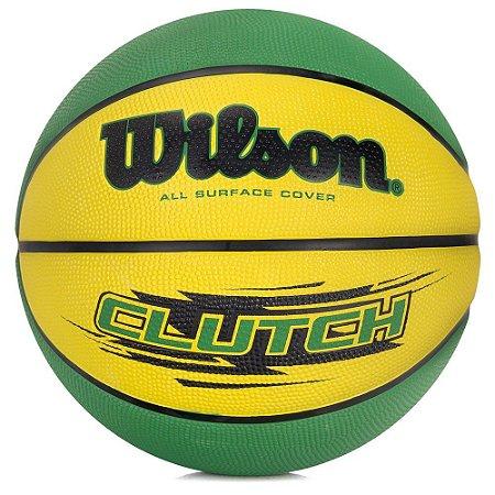 Bola de Basquete CLUTCH 295 Verde/Amarela - NBA Wilson
