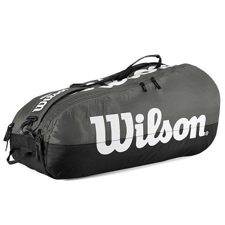 Raqueteira Wilson Esportiva Team II 6 Pack Cinza/Preta