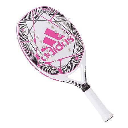 Raquete Beach Tennis Match Branco/Rosa - Adidas