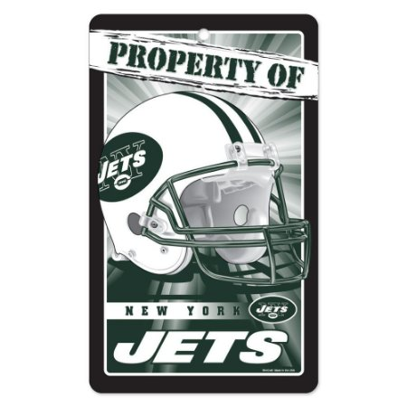 Placa Decorativa 18x30cm New York Jets
