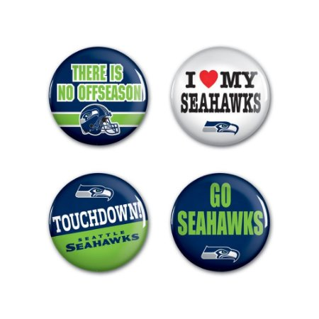 4 Bottons Pins Seattle Seahawks NFL