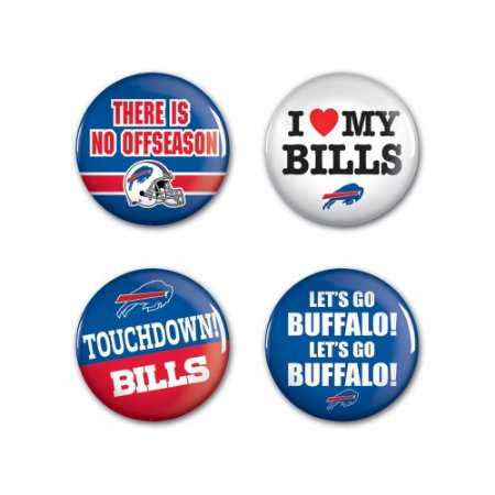 4 Bottons Pins Buffalo Bills NFL